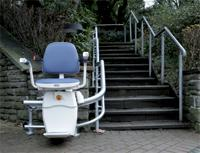 Custom curve stair lift in Suffolk County
